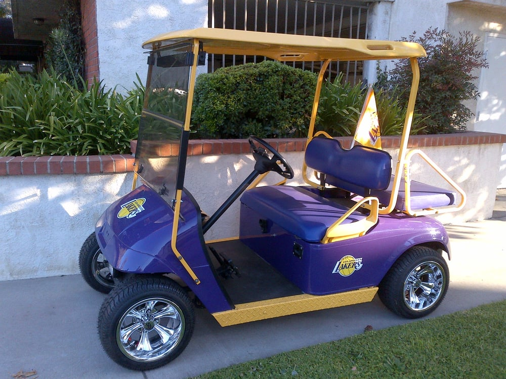 This is my golf cart now look at my custom paint job and for San luis bay motors kia