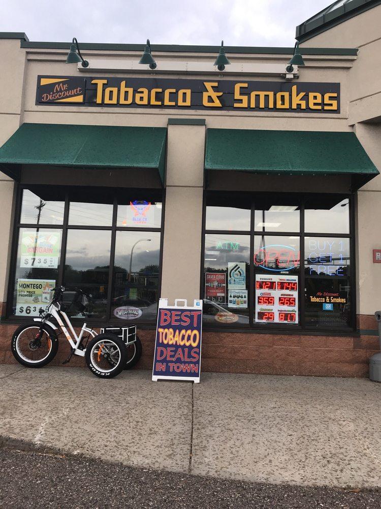 Mr Discount Tobacco: 7610 University Ave NE, Minneapolis, MN