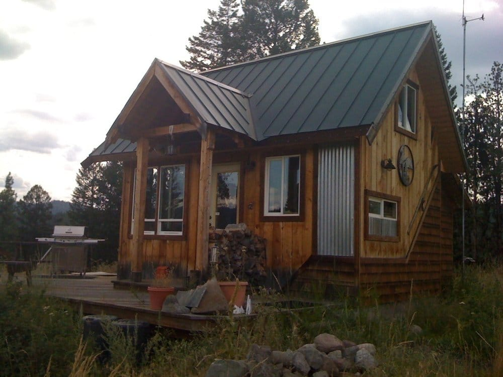 Small custom solar powered cabin in the wilderness yelp for Wilderness cabin plans