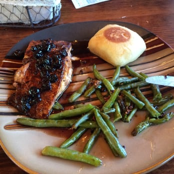 Photo Of Byrd S Riverfront Restaurant Ozark Ar United States Salmon With Blueberry