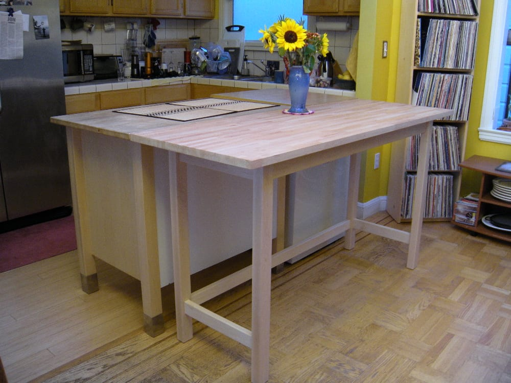 Kitchen Island Was Extended By Me Building A Table To