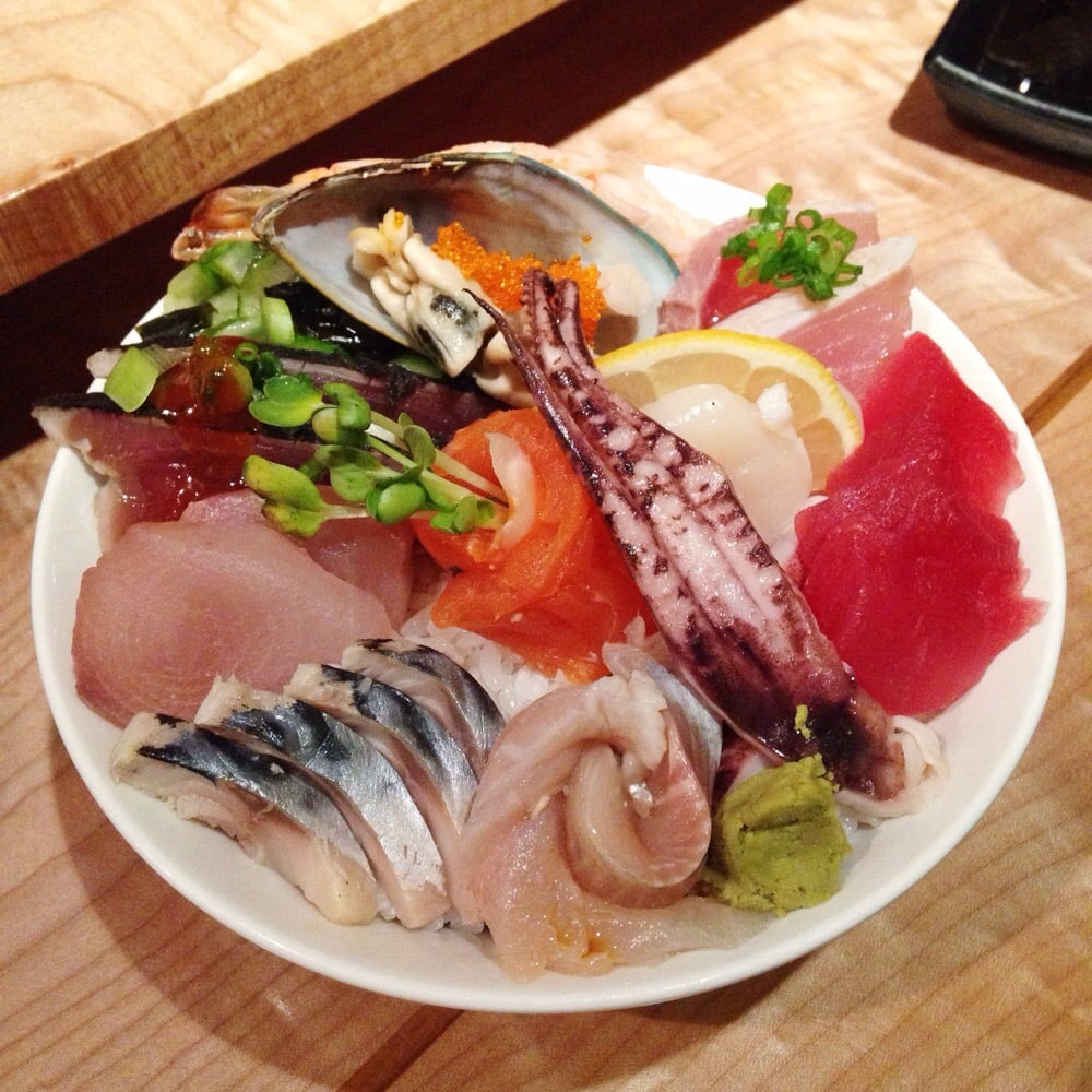 Chirashi bowl filled with goodness from chef 39 s choice yelp for Asia sushi bar and asian cuisine mashpee