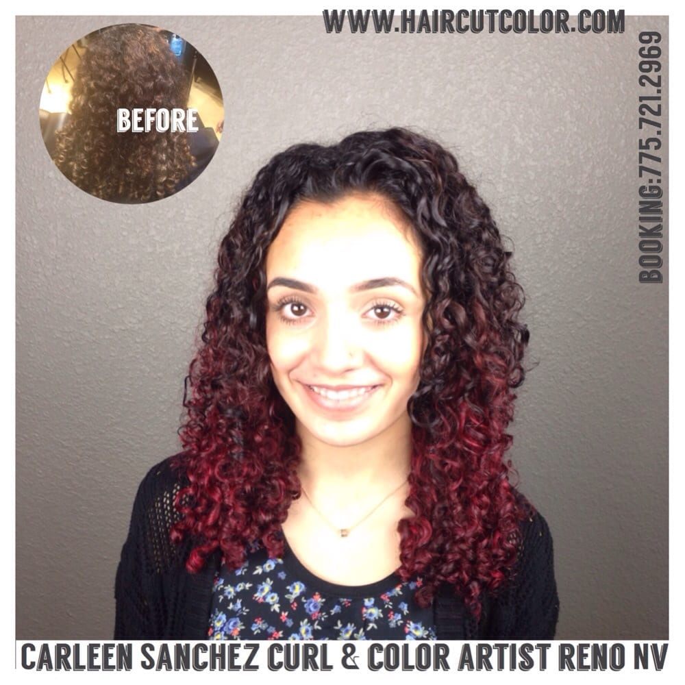 Red Violet Curly Ombr For This Beautiful Curly Girl By Carleen
