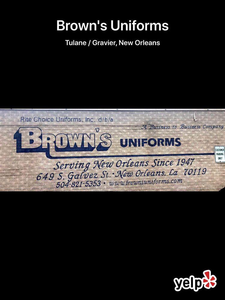 Brown's Uniforms