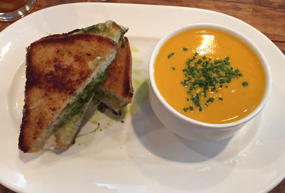 Grilled Cheese And Butternut Squash Soup At Farmstead