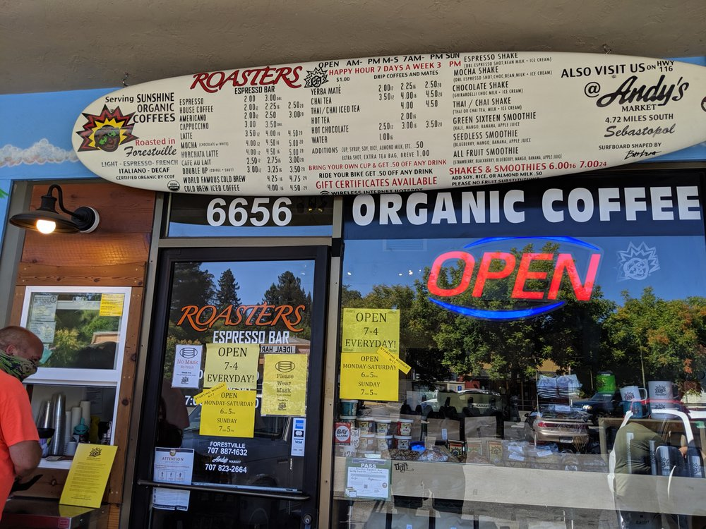 Sunshine Coffee Roasters: 6656 Front St, Forestville, CA
