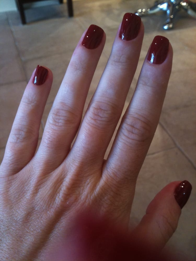 OPI Quarter of a Cent-Cherry on natural nails by Yaremi - Yelp