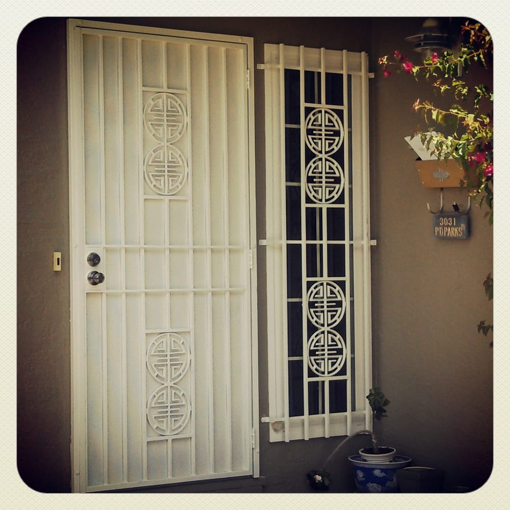 Security Screen Door With Matching Security Window Bar Powder Coat