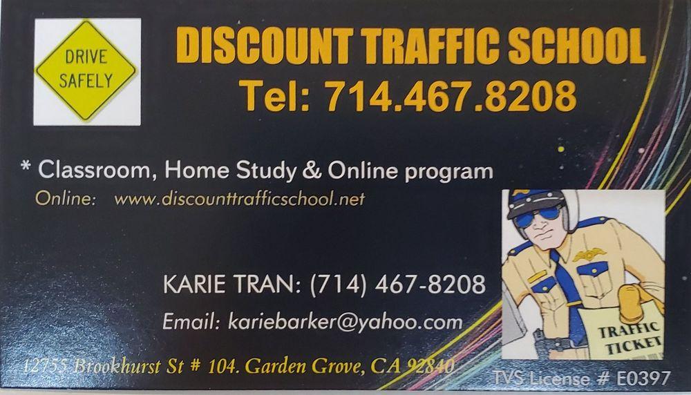 Discount Traffic School: 10872 Westminster Ave, Garden Grove, CA