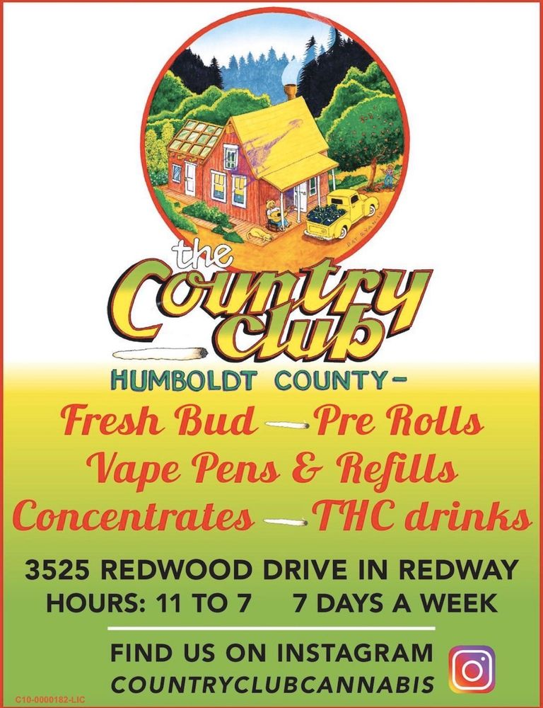 The Country Club: 3525 Redwood Dr, Redway, CA