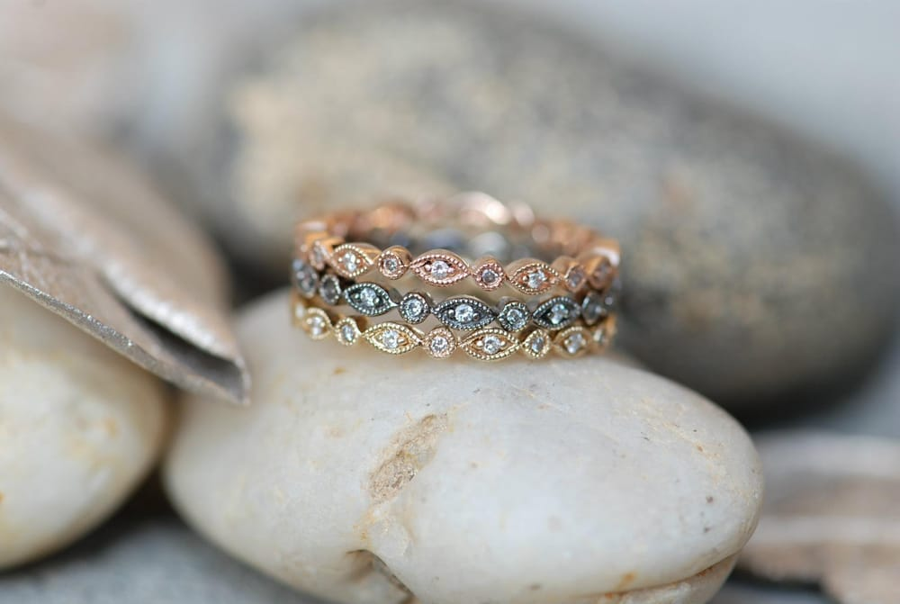 Eleanor Rigby Vintage Inspired Stack Rings Made in 14KT RoseGold