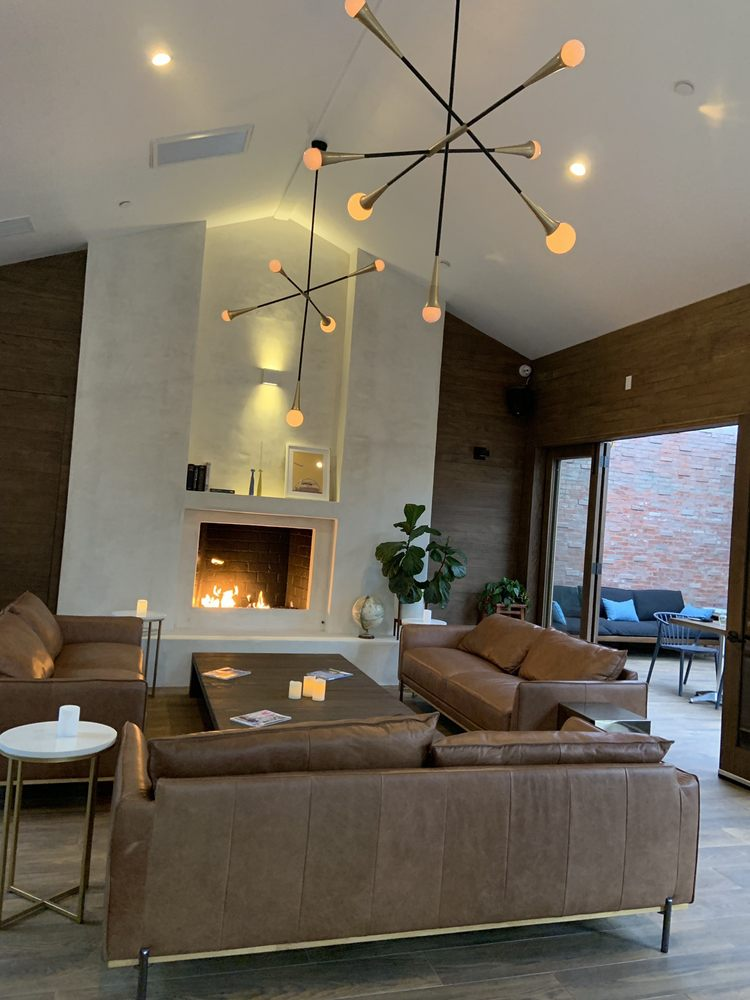 Miraculous Cozy Fireplace And Leather Couches Yelp Pabps2019 Chair Design Images Pabps2019Com