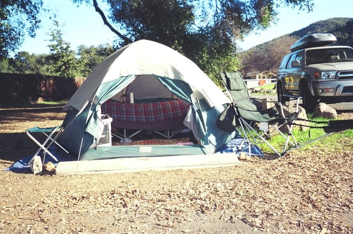 Photo of Malibu Creek State Park - Calabasas CA United States. C&site 41 & Campsite 41-Insta-Set Greatland Tent - Yelp