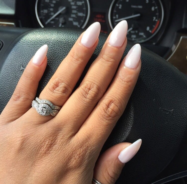 Almond Shape Nails w/ Orly Kiss the Bride nail polish - Yelp