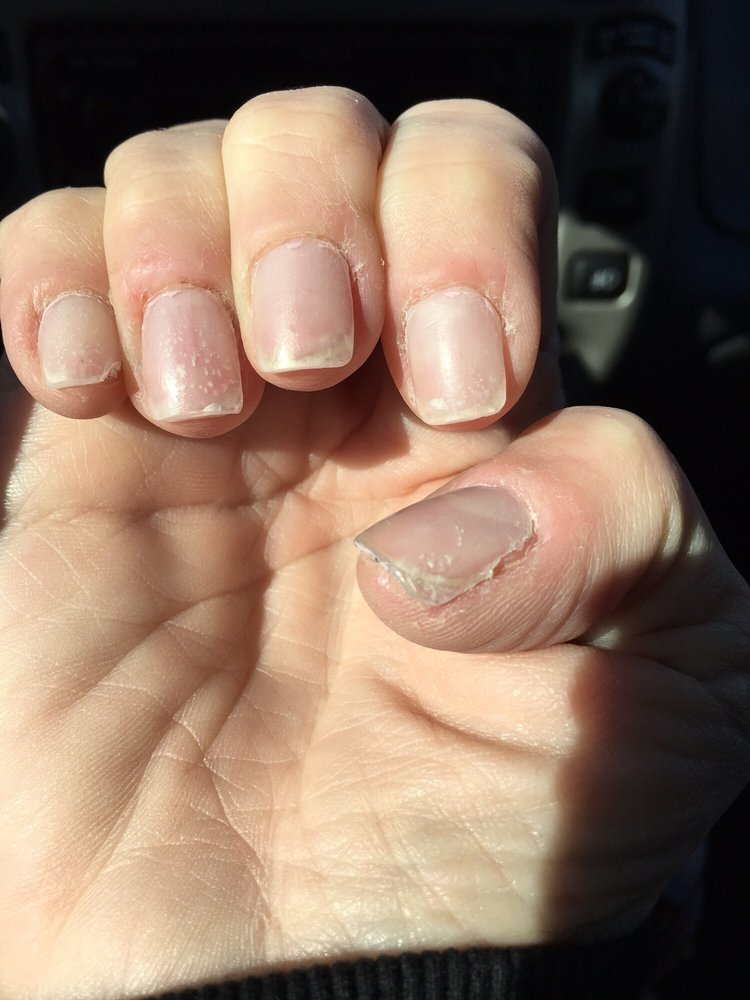 The CVS press on nails look better than this - Yelp