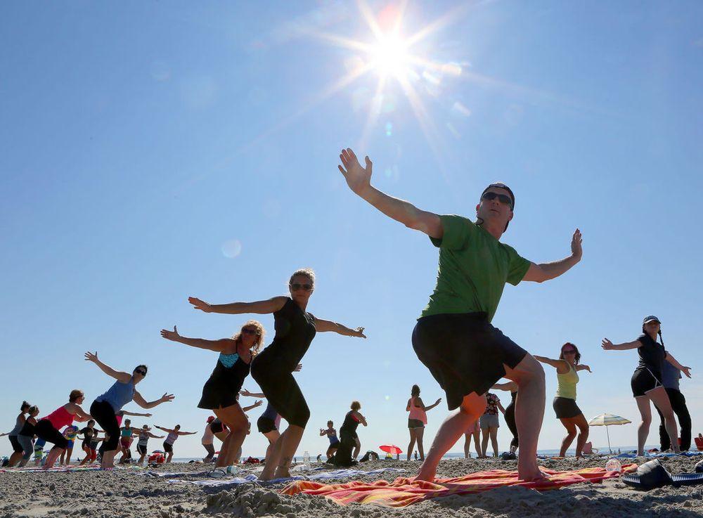 Yoga On The Beach: 4501 Boardwalk, Wildwood, NJ