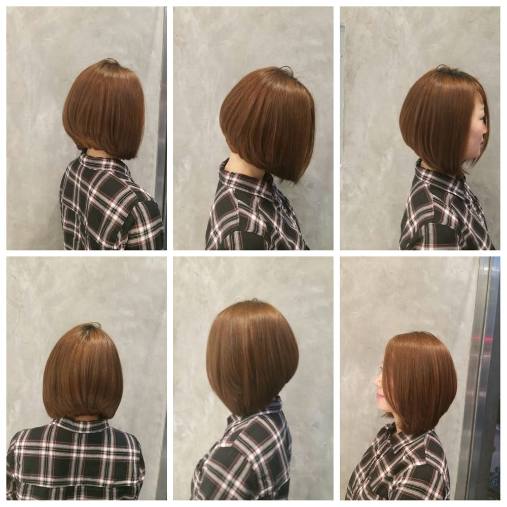 Beautiful A Line Bob Haircut Blunted Ends And Slightly Cropped In