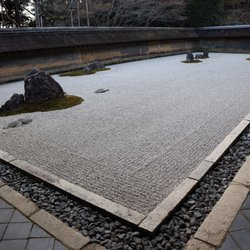 Religious Organizations Buddhist Temples · Photo Of 龍安寺   Kyoto, 京都府,  Japan. The Rock Garden