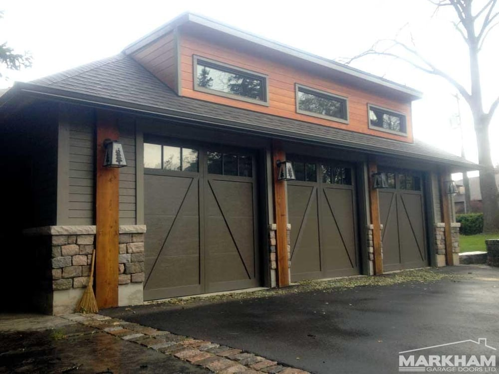 Markham garage doors 33 photos garage door services for 1 5 car garage door