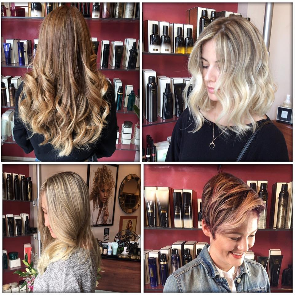 Top left hair done by adam top right hair done by for Adams salon brooklyn ny