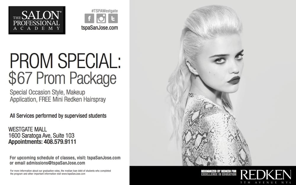 Prom special only 67 book today hair and make up and a for Academy for salon professionals reviews