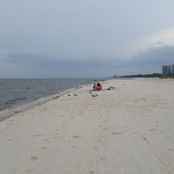 Photo Of Biloxi Beach Ms United States Swimming Not Recommended At