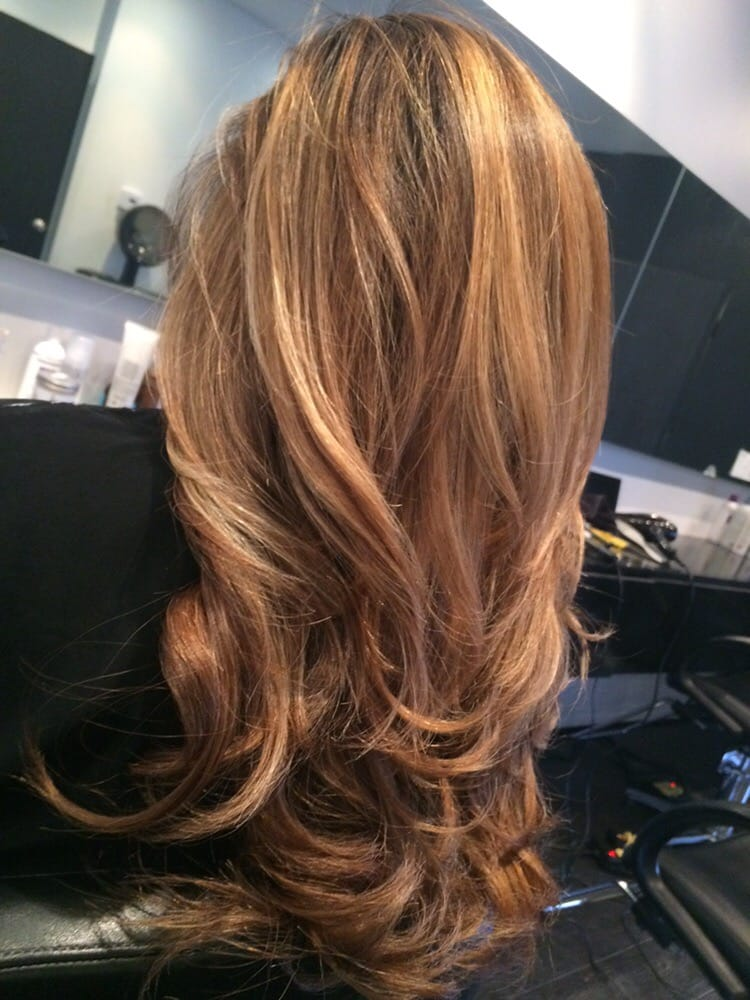 From Dark Brown To Warm Honey And Copper Balayage By