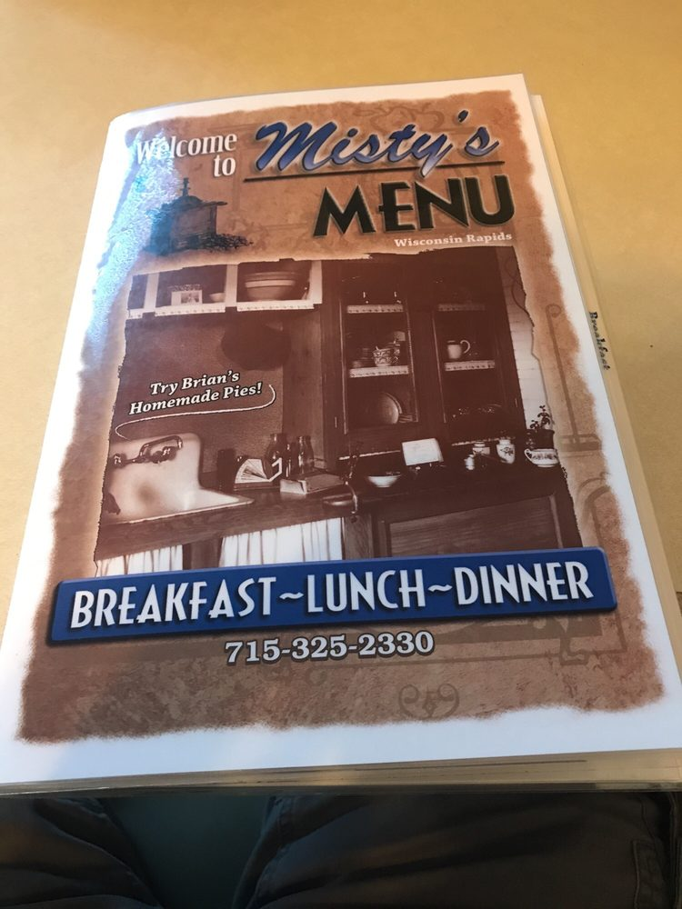 Misty's Menu: 9041 State Hwy 13 S, Wisconsin Rapids, WI