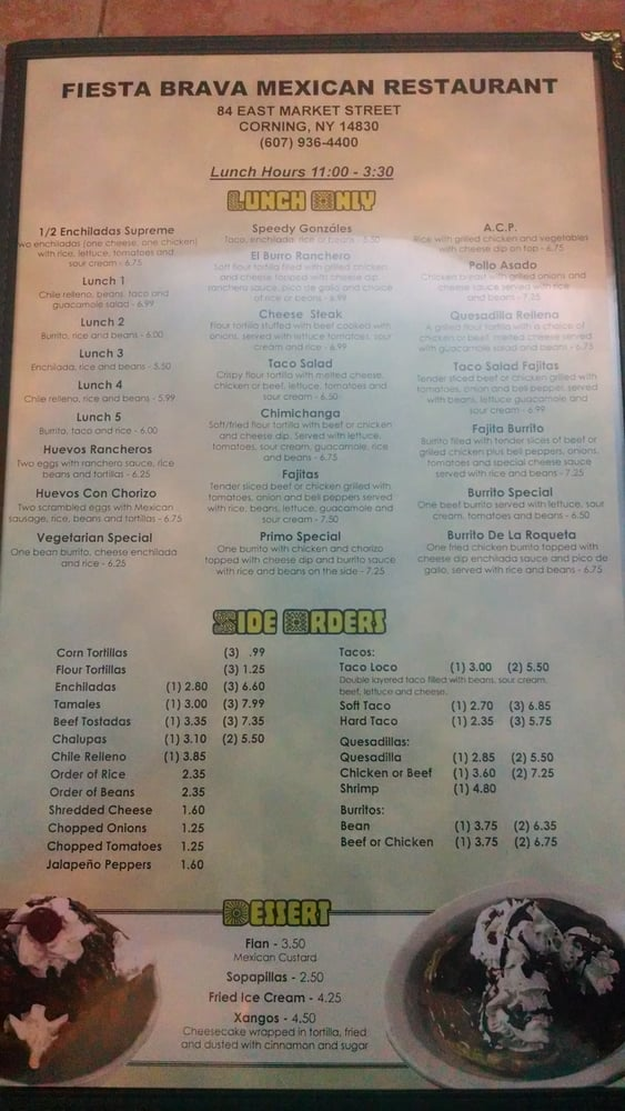 Mexican Restaurant Corning Ny