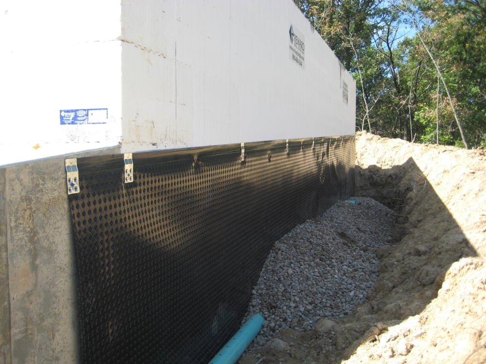 We solve the source of the problem by installing proper Exterior basement waterproofing cost