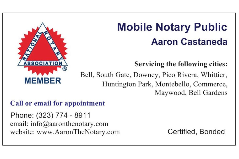 California mobile notary public business plan