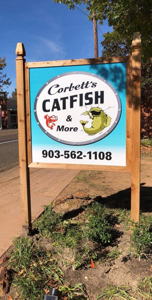 Corbett's Catfish & More: 2 S Main St, Avinger, TX