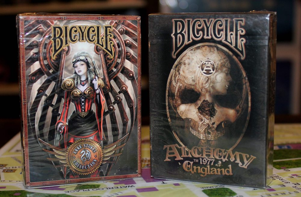 JUST IN: Alchemy Playing Cards & Steampunk Playing Cards  They are