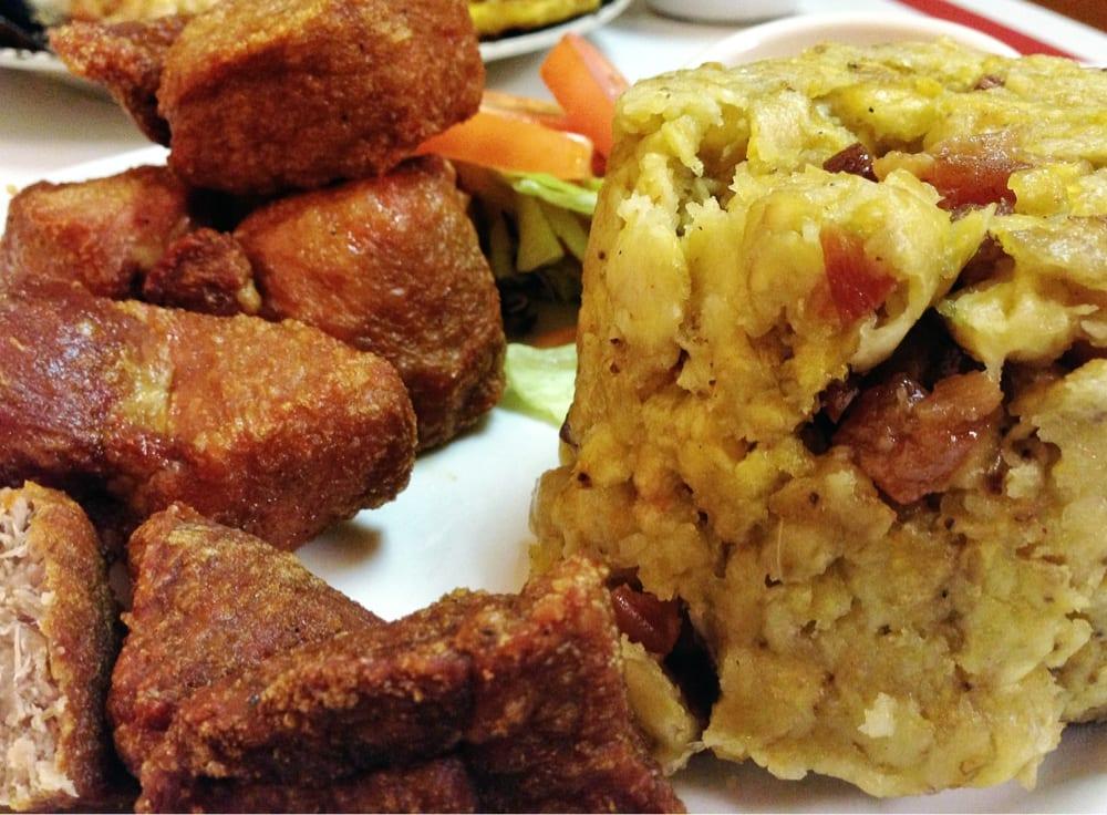 Image result for mofongo con carne frita