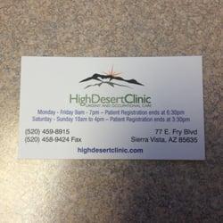 High desert clinic 10 reviews medical centers 77 e fry blvd photo of high desert clinic sierra vista az united states business card reheart Image collections