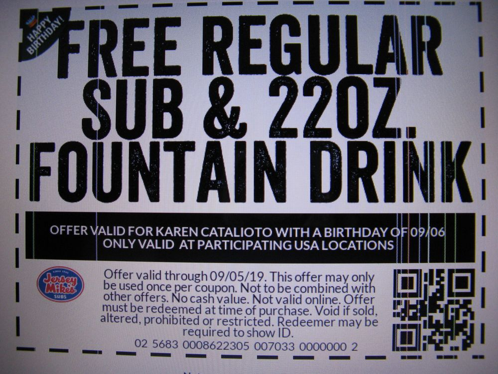 photo about Jersey Mikes Printable Coupons called Jersey Mikes Subs - Get Foodstuff On-line - 55 Shots 72