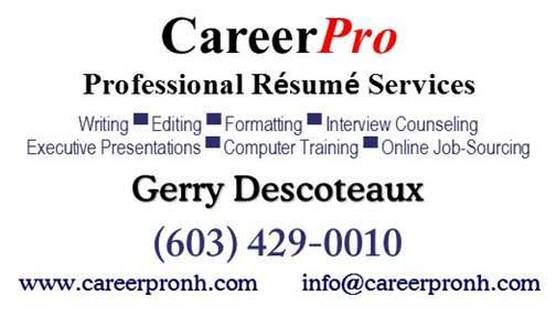 careerpro services editorial services merrimack nh phone