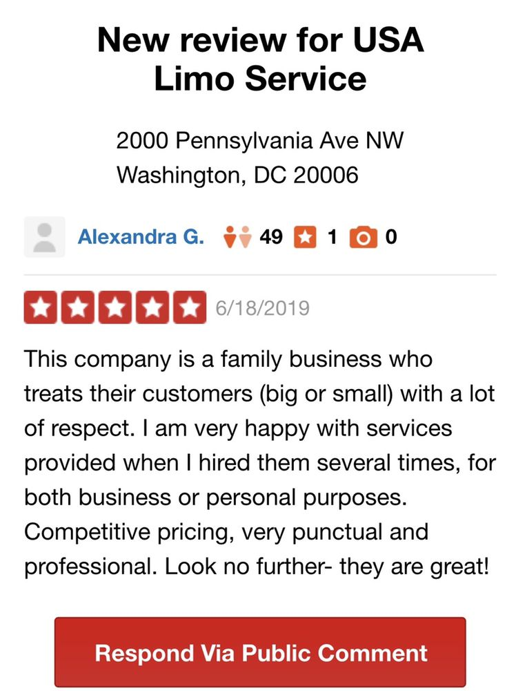 USA Limo Service: 2000 Pennsylvania Ave NW, Washington, DC, DC