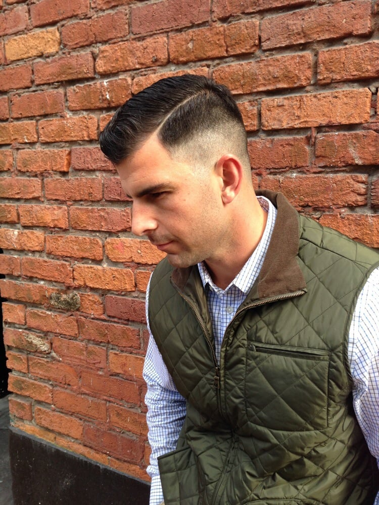 Straight Razor Part Line With The High Forrest Gump Fade Yelp