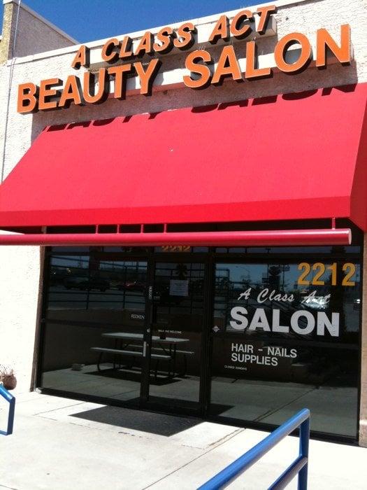 A class act beauty salon hair salons 2212 s rainbow for A class act salon