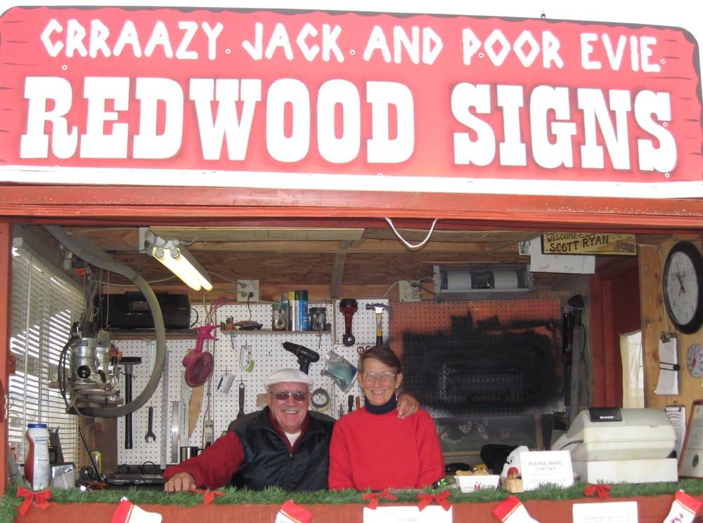 Crraazy Jack & Poor Evie's Redwood Signs & Crafts: 165 E Main St, Quartzsite, AZ