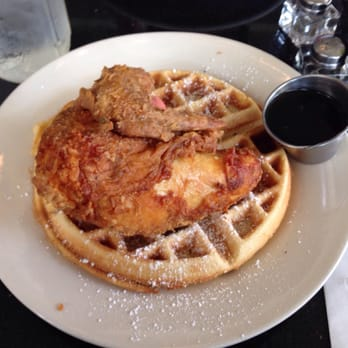 ... Melba's famous fried chicken and eggnog waffles!!! They were SUPER