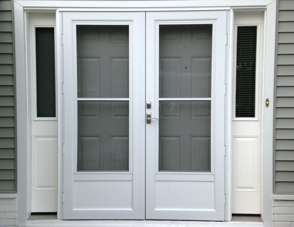 Insulated Fiberglass French Doors With Sidelites And Extruded