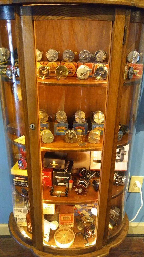 Vintage Fishing Reel Display Yelp