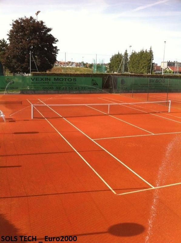 Court de tennis en terre battue synthétique Confort clay® et ...
