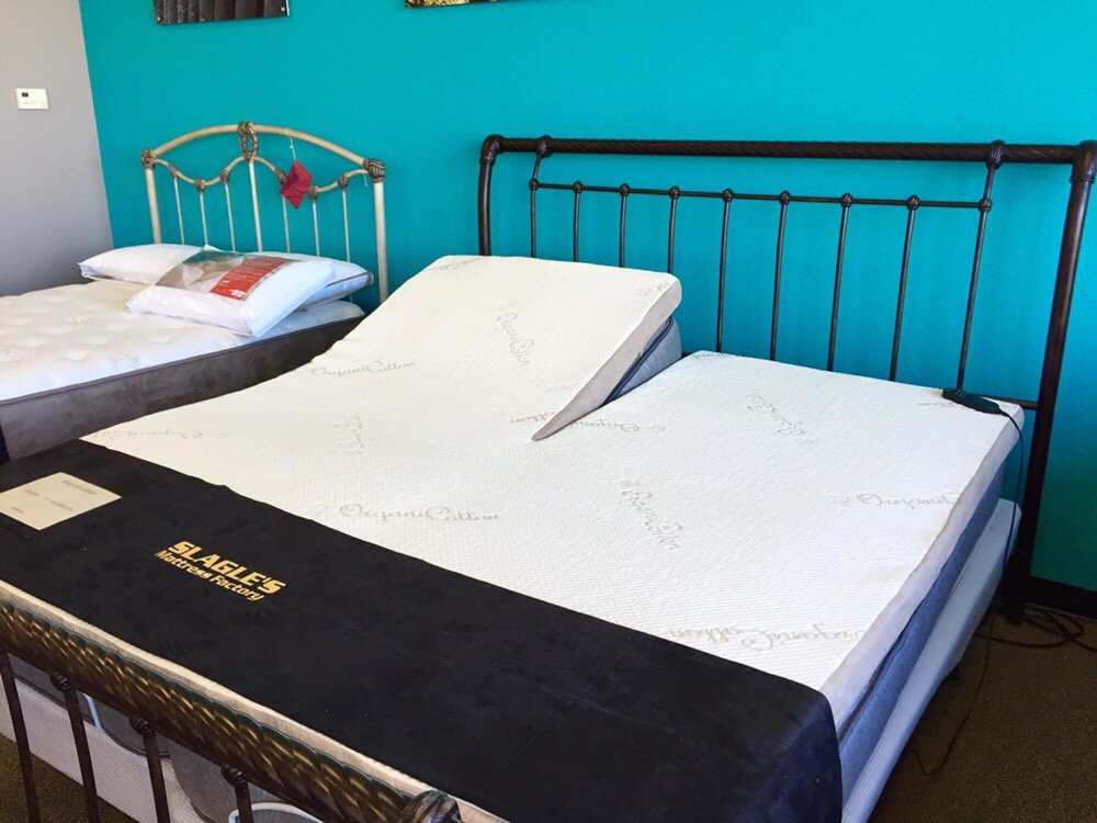 Split top adjustable bed king size.   Yelp
