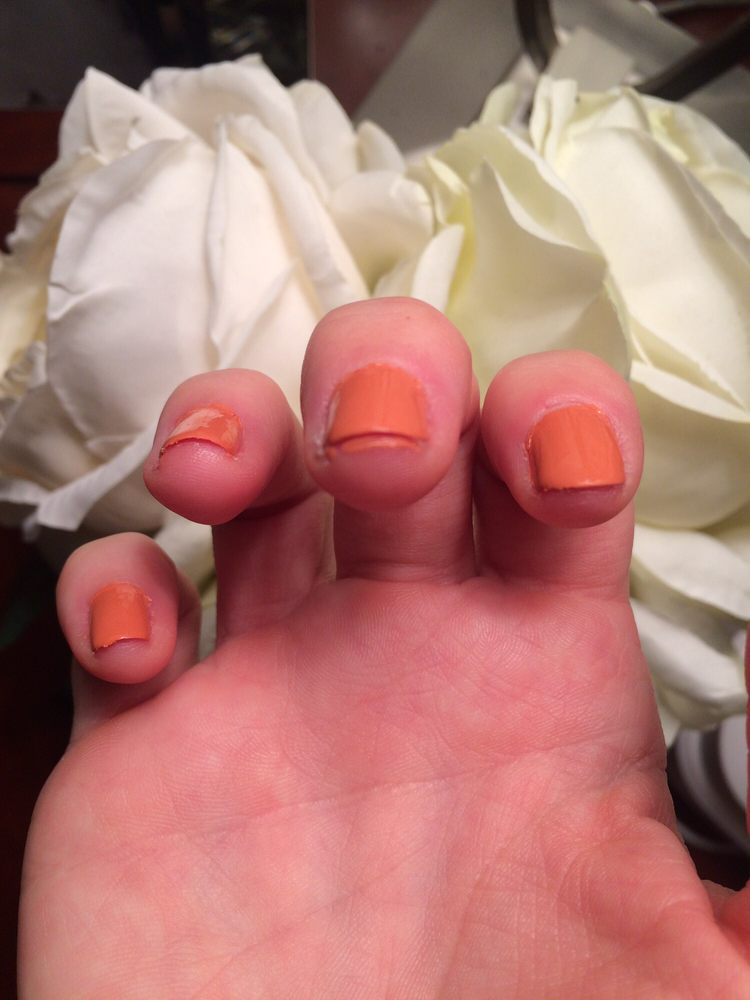 Unprofessional and beyond sloppy manicure - Yelp