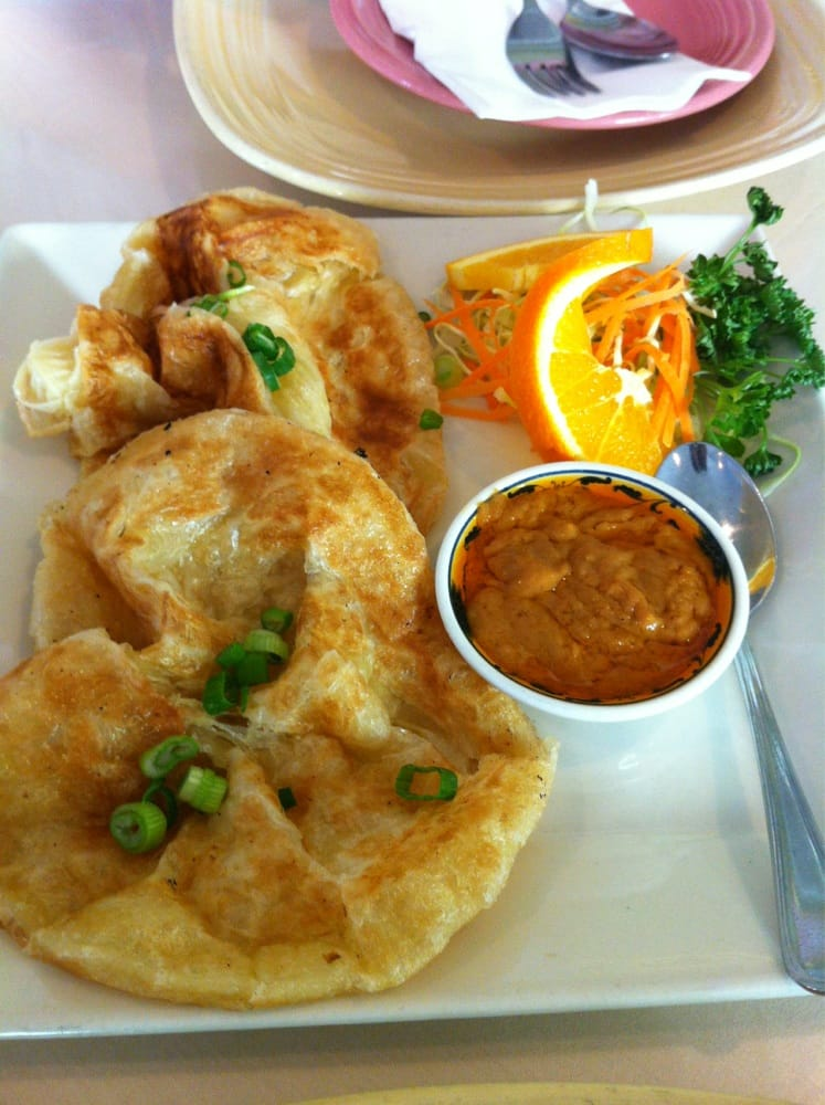 Roti appetizer meh get the angel wings yelp for Amarin thai cuisine