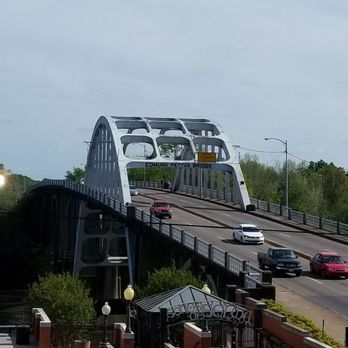 Photo of Edmund Pettus Bridge - Selma, AL, United States. View from the Interpretive Center.