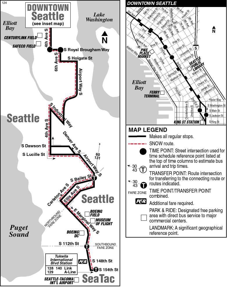 Metro Transit Route 124 Public Transportation 201 S